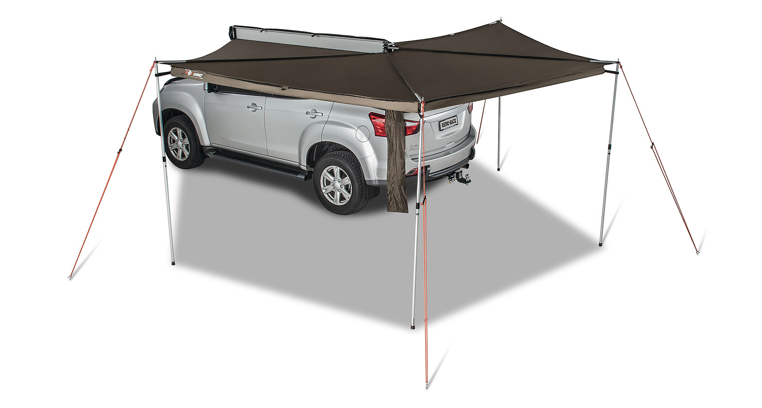Caddy with hardshell rooftop tent