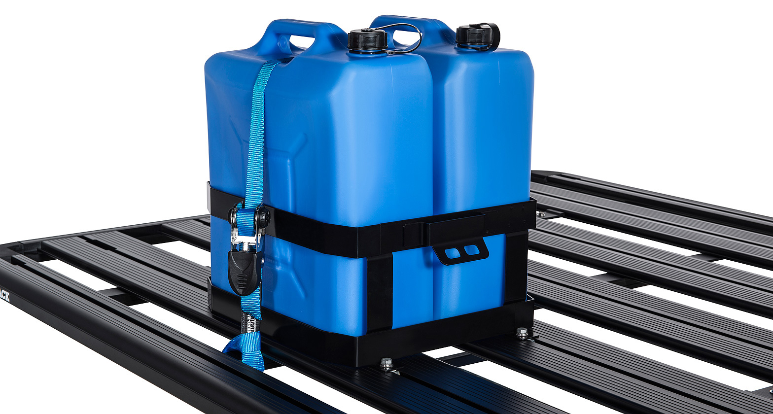 43151 Double Vertical Jerry Can Holder Rhino Rack
