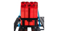 Double Vertical Jerry Can Holder - #43151 | Rhino-Rack
