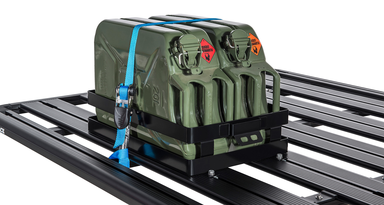 43152 Double Horizontal Jerry Can Holder Rhino Rack