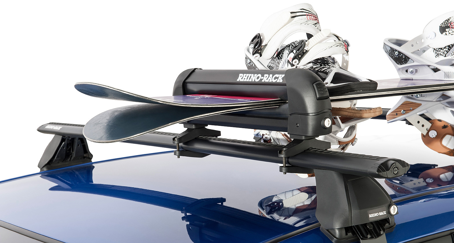 573 Ski And Snowboard Carrier 3 Skis Or 2 Snowboards Rhino Rack