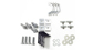 #HK23 - Alloy Tray Fitting Kit (Heavy Duty 2 Bar Systems) | Rhino-Rack