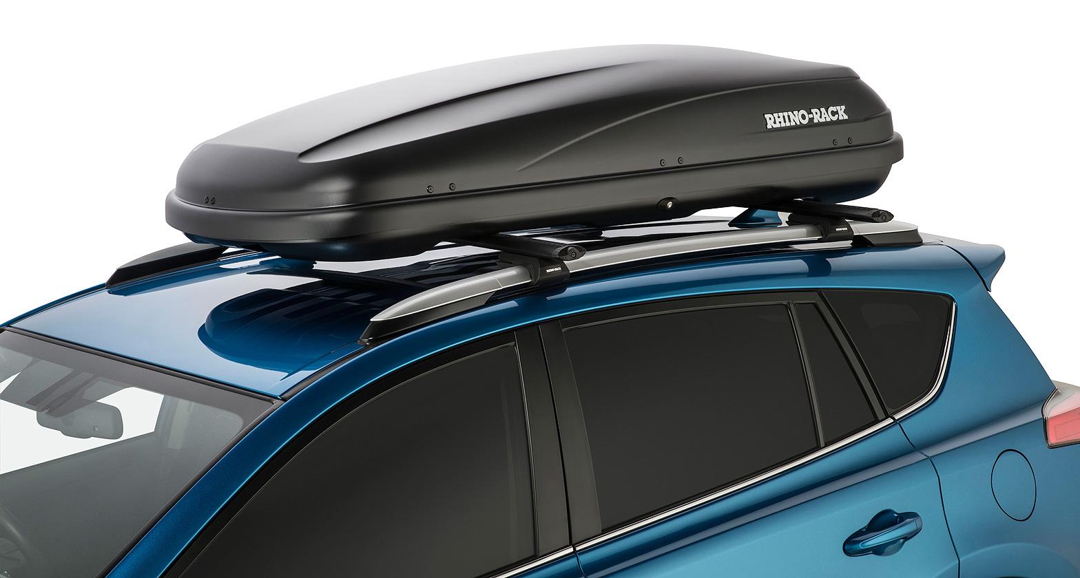 Rhino Roof Bar Fitting: #RMFT440 - MasterFit Roof Box 440L (Black)