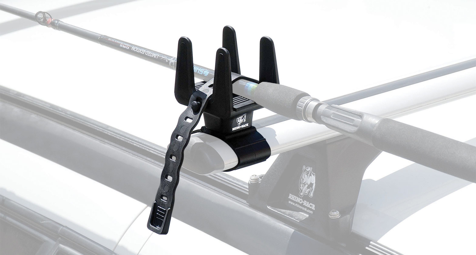 Multi purpose holder rmph rhino rack for Roof rack fishing rod holder