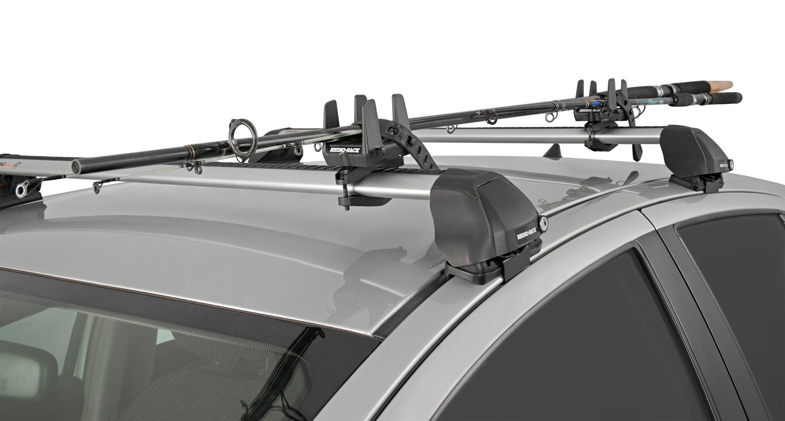 Multi purpose holder universal rmphu rhino rack for Fishing rod car rack