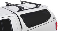 Heavy Duty RLT600 Trackmount Black 2 Bar Canopy Roof Rack