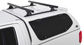 #JA8115 - Heavy Duty RLT600 Trackmount Black 2 Bar Canopy Roof Rack | Rhino-Rack