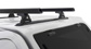 #JA8115 - Heavy Duty RLT600 Trackmount Black 2 Bar Canopy Roof Rack | Rhino-Rack