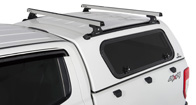 Heavy Duty RLT600 Trackmount Silver 2 Bar Canopy Roof Rack