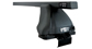 #JA0358 - Euro 2500 Black 2 Bar Roof Rack | Rhino-Rack