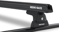 Heavy Duty RLT600 Trackmount Black 1 Bar Roof Rack