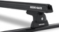 #JA9102 - Heavy Duty RLT600 Trackmount Black 2 Bar Roof Rack | Rhino-Rack
