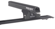 Heavy Duty RLTP Trackmount Black 2 Bar Roof Rack
