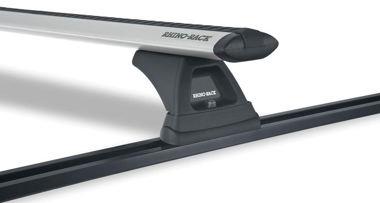 #JA7770 - Vortex RLT500 Trackmount Silver 2 Bar Roof Rack | Rhino-Rack