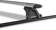 Vortex RLTF Trackmount Silver 2 Bar Roof Rack