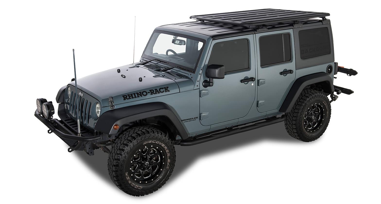 jeep wrangler jk 02 11 on rhino rack pioneer platform backbone system ja8328. Black Bedroom Furniture Sets. Home Design Ideas
