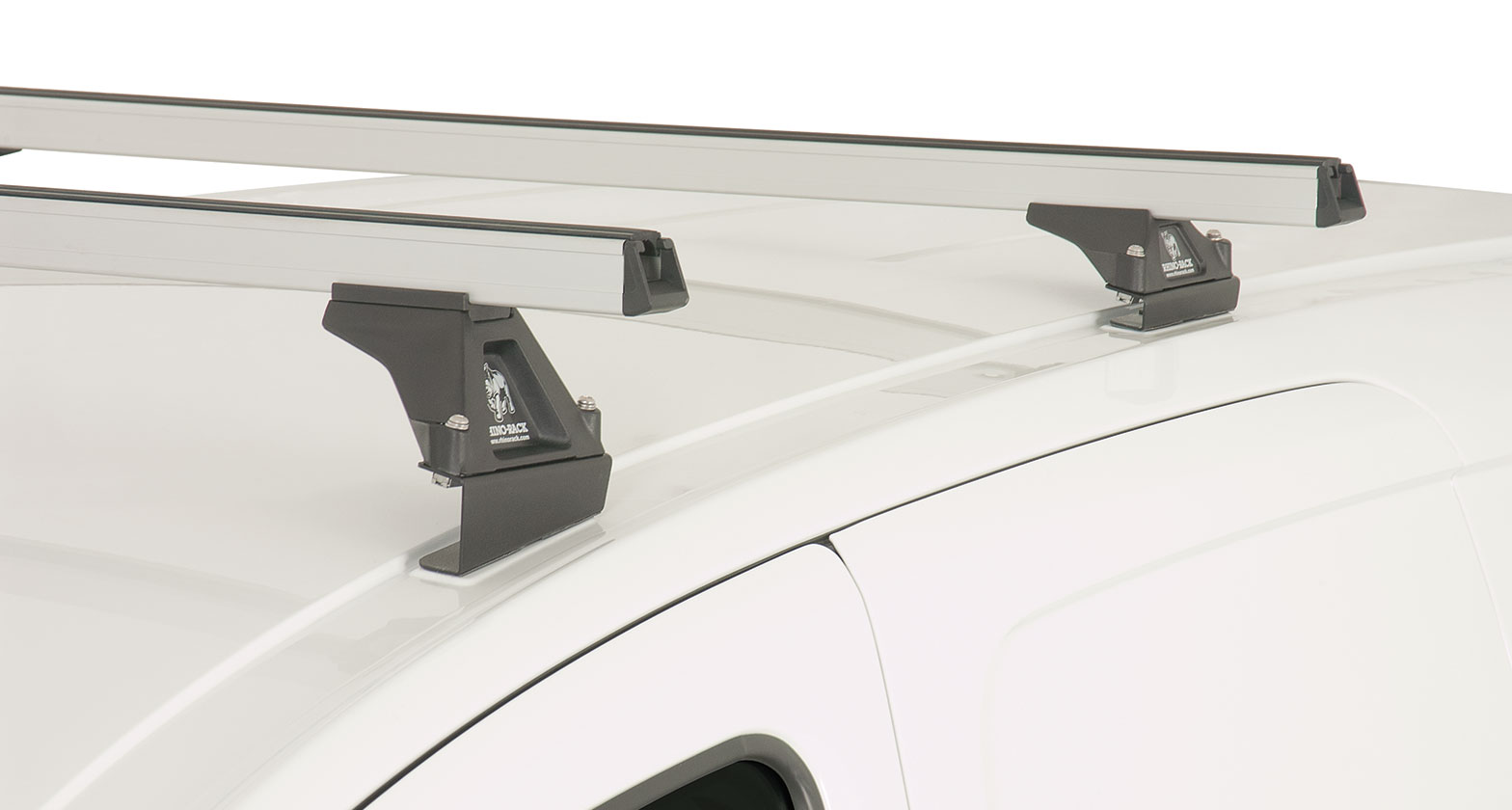 Ja0745 Heavy Duty Rltf Silver 2 Bar Roof Rack Rhino Rack
