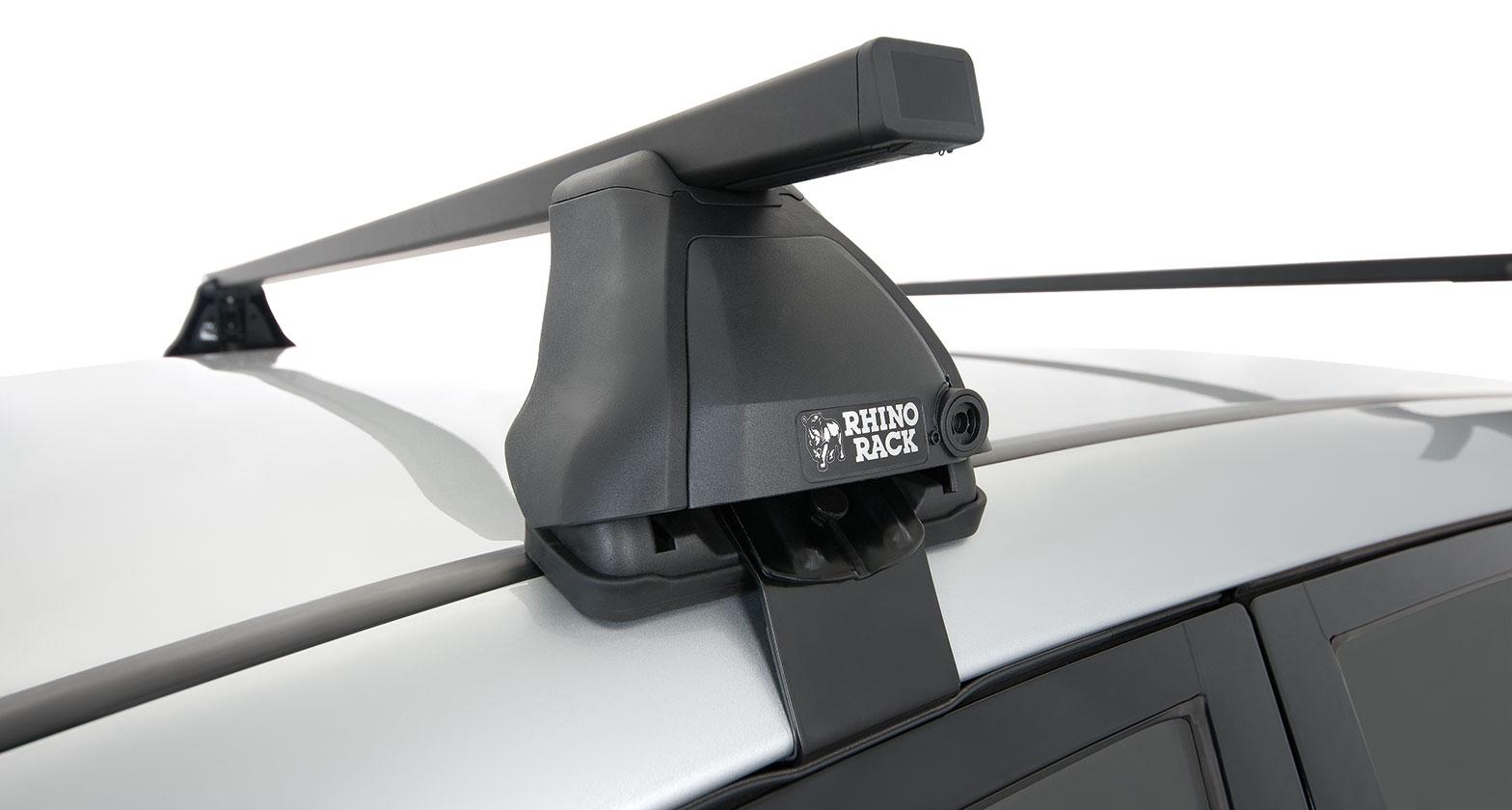 Ja0379 Euro 2500 Black 2 Bar Roof Rack Rhino Rack