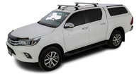 Heavy Duty RCH Trackmount Silver 2 Bar Roof Rack